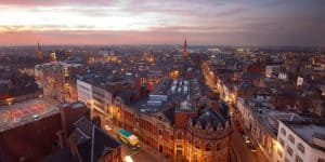 Picture showing view of Leicester