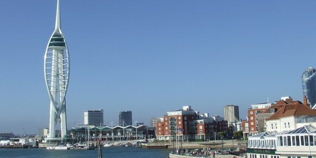 A view on Portsmouth waterfront
