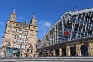 A picture showing Liverpool City Train Station