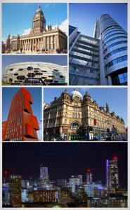 A collage showing places in Leeds