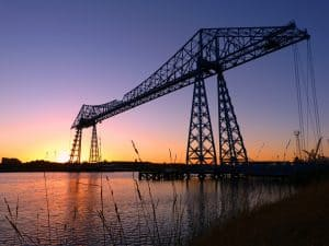 A picture showing Middlesbrough Transporter Bridge