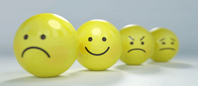 smileys but only one smiled