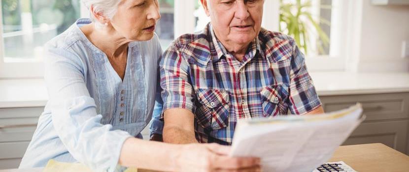elderly people and bills