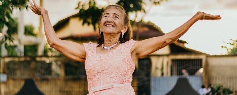 Happy elder