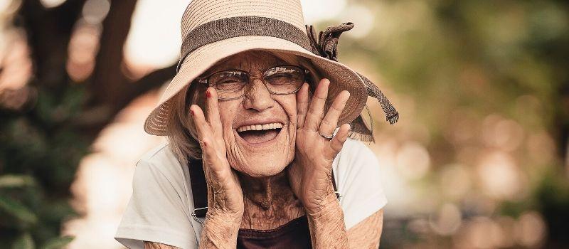 Elder smiling